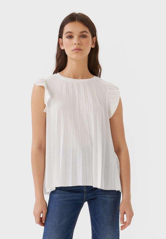 MIT VOLANT  - Blouse - white