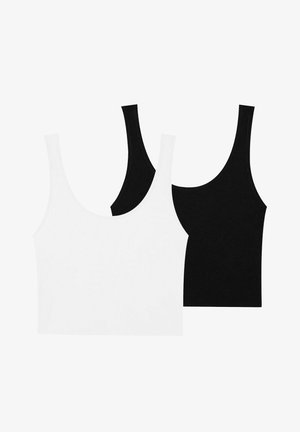 2 PACK - Top - black, white