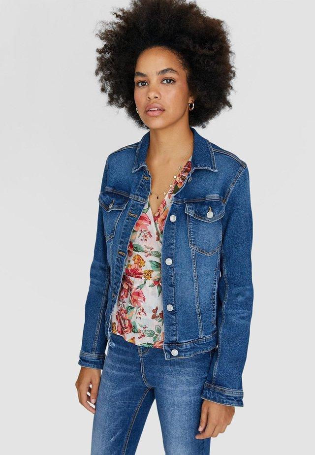 Kurtka jeansowa - blue-black denim