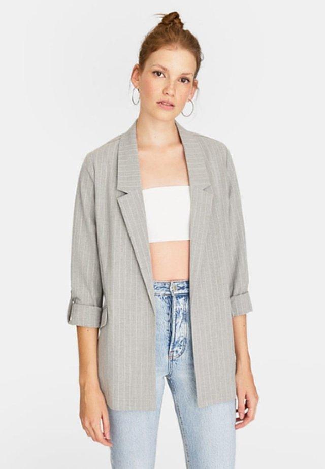 MIT STREIFEN  - Halflange jas - grey