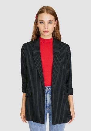MIT STREIFEN - Cappotto corto - black