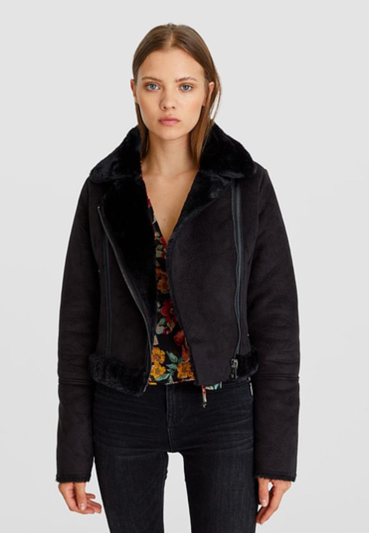 Stradivarius - Winter jacket - black