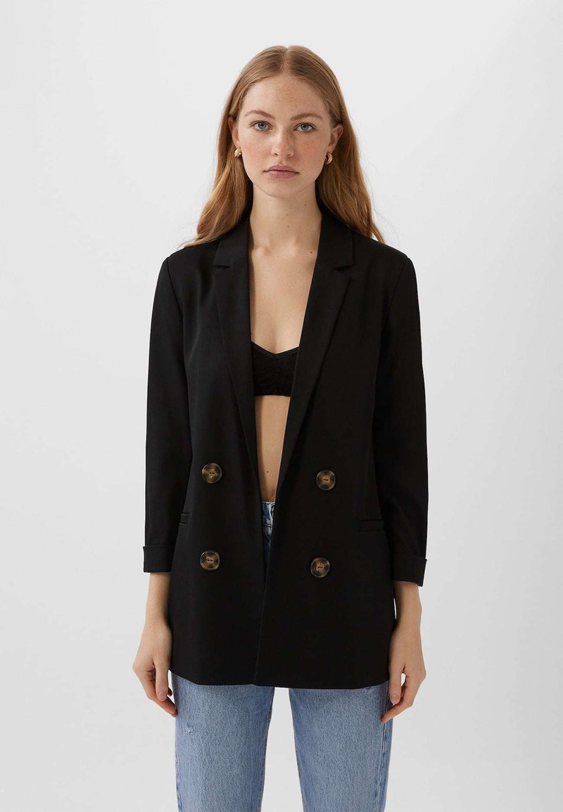 Stradivarius - Manteau court - black