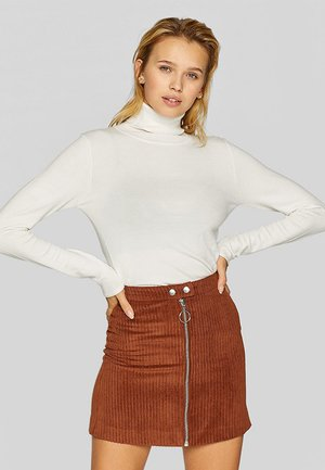 ROLLKRAGENPULLOVER - Pullover - beige