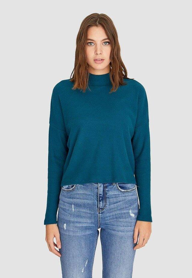 Strikpullover /Striktrøjer - turquoise