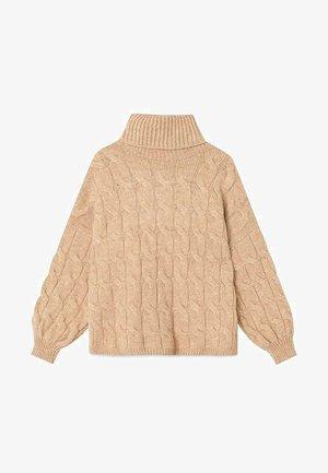 PULLOVER MIT ZOPFMUSTER 05092267 - Pullover - beige