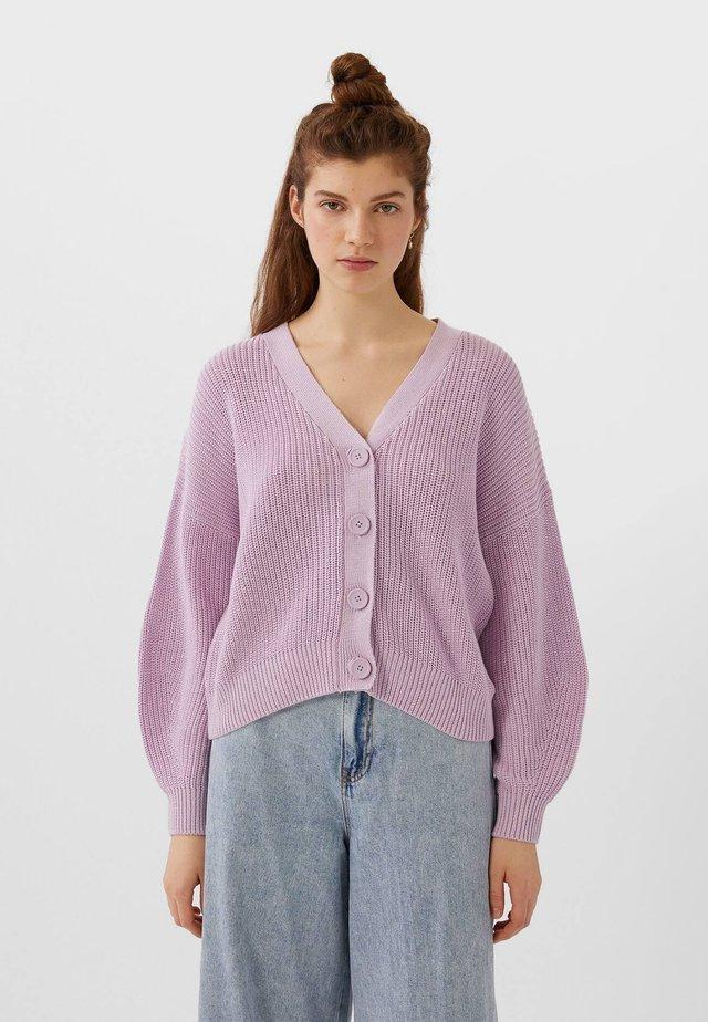 MIT FALLENDEN ÄRMELN - Cardigan - purple
