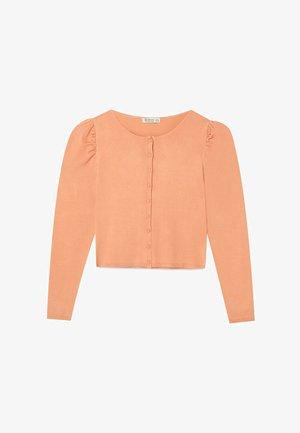 MIT RUNDAUSSCHNITT  - Cardigan - orange