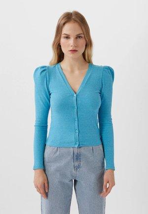 MIT V-AUSSCHNITT  - Cardigan - blue