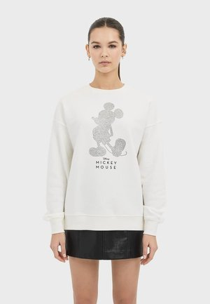 "SWEATSHIRT ""MICKEY"" MIT STRASS 02597730 - Sweatshirt - white"