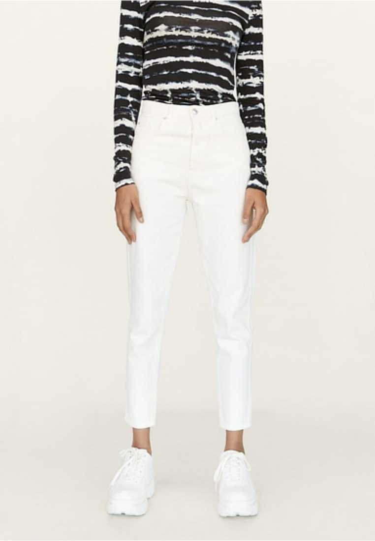 Stradivarius - MOM-FIT - Jeans Relaxed Fit - white