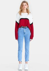 Stradivarius - Straight leg jeans - dark blue - 1