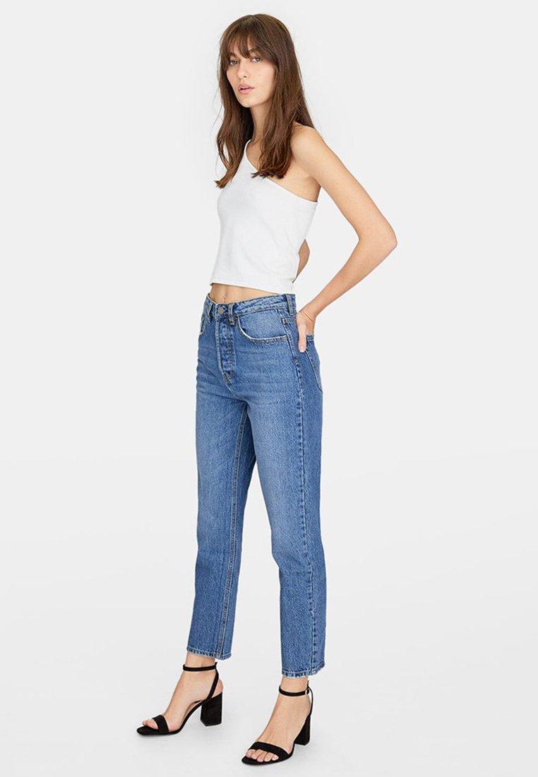 Stradivarius - MOM-FIT - Jeans slim fit - blue denim