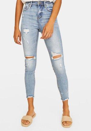 MIT HOHEM BUND UND RISSEN - Jeans Skinny Fit - blue denim