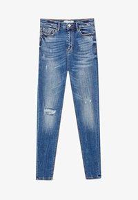 Stradivarius - MIT SEHR HOHEM BUND  - Jeans Skinny Fit - blue - 4