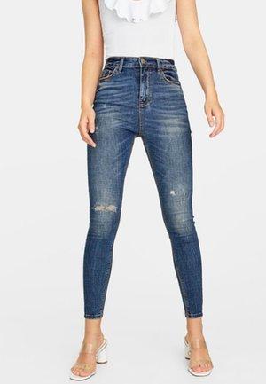 MIT SEHR HOHEM BUND  - Jeans Skinny - blue