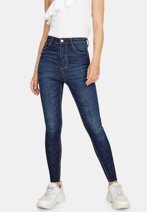 MIT SEHR HOHEM BUND  - Jeans Skinny Fit - dark blue