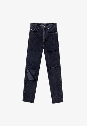 MOM-JEANS MIT RISSEN  - Jeans Straight Leg - grey denim