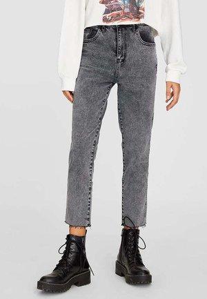 MIT RISSEN  - Jeans Straight Leg - grey