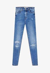 Stradivarius - JEANS MIT SEHR HOHEM BUND 01450100 - Jeans Skinny - light blue - 4