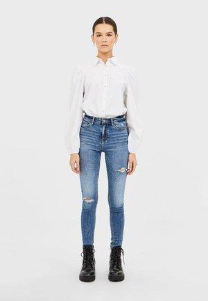 JEANS MIT HOHEM BUND UND RISSEN 01400300 - Jeans Skinny Fit - dark blue