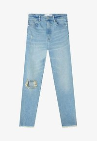 Stradivarius - Jeans slim fit - blue denim - 4