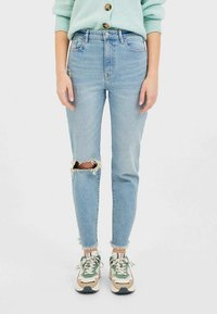 Stradivarius - Jeans slim fit - blue denim - 0