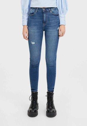 JEANS MIT SEHR HOHEM BUND 01450741 - Jeans Skinny Fit - dark blue