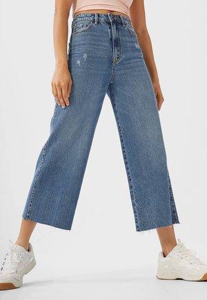 CULOTTE - Jeans a zampa - blue denim