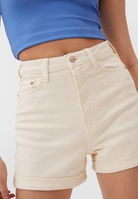 Stradivarius - Denim shorts - beige - 2