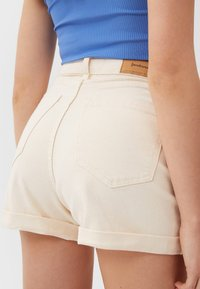 Stradivarius - Denim shorts - beige - 3