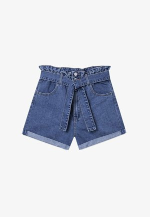 BAGGY - Szorty jeansowe - blue