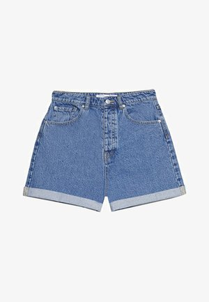 MOM-FIT - Jeans Shorts - blue denim