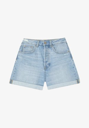 MOM-FIT - Jeansshorts - dark blue