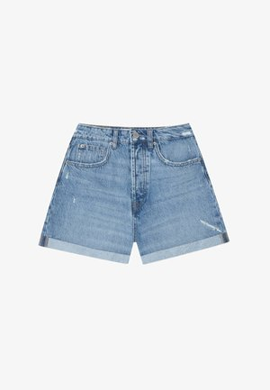 MOM-FIT - Shorts di jeans - blue denim
