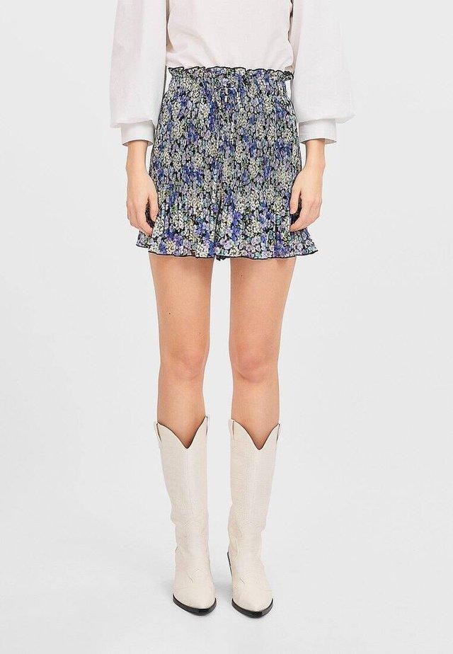 MIT PRINT - Shorts - blue