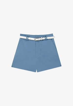 MIT GÜRTEL - Short - blue