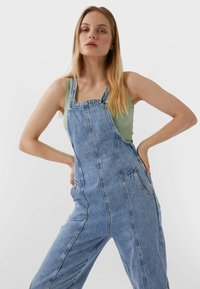 Stradivarius - Tuinbroek - blue denim - 2