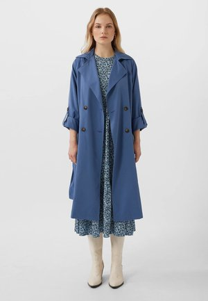 LANGER FLIESSENDER - Trenchcoat - dark blue