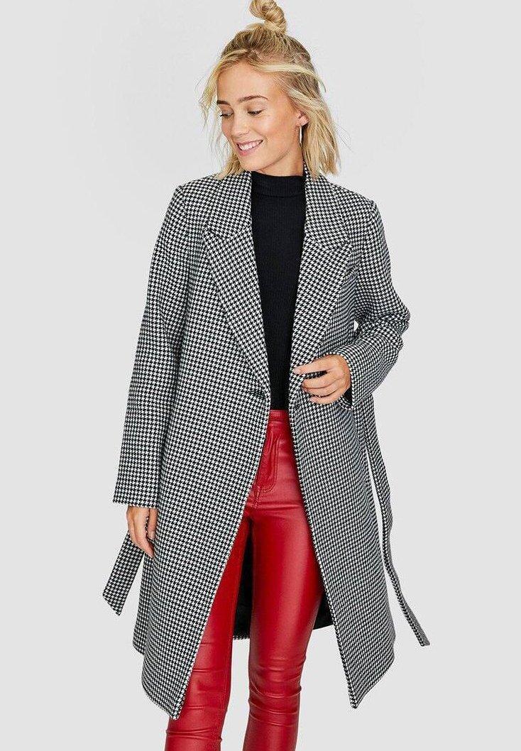 Stradivarius - MIT GÜRTEL - Classic coat - grey