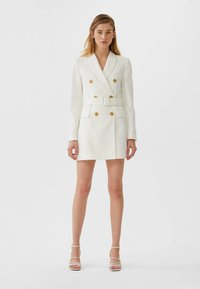 Stradivarius - Trench - white - 1