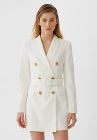 Stradivarius - Trench - white - 0
