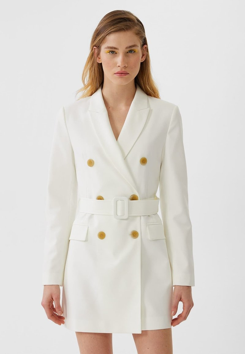 Stradivarius - Trench - white