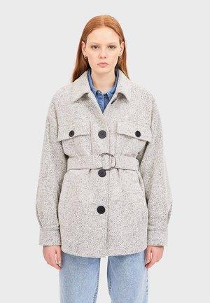 MIT TRIKOTBINDUNG - Classic coat - grey