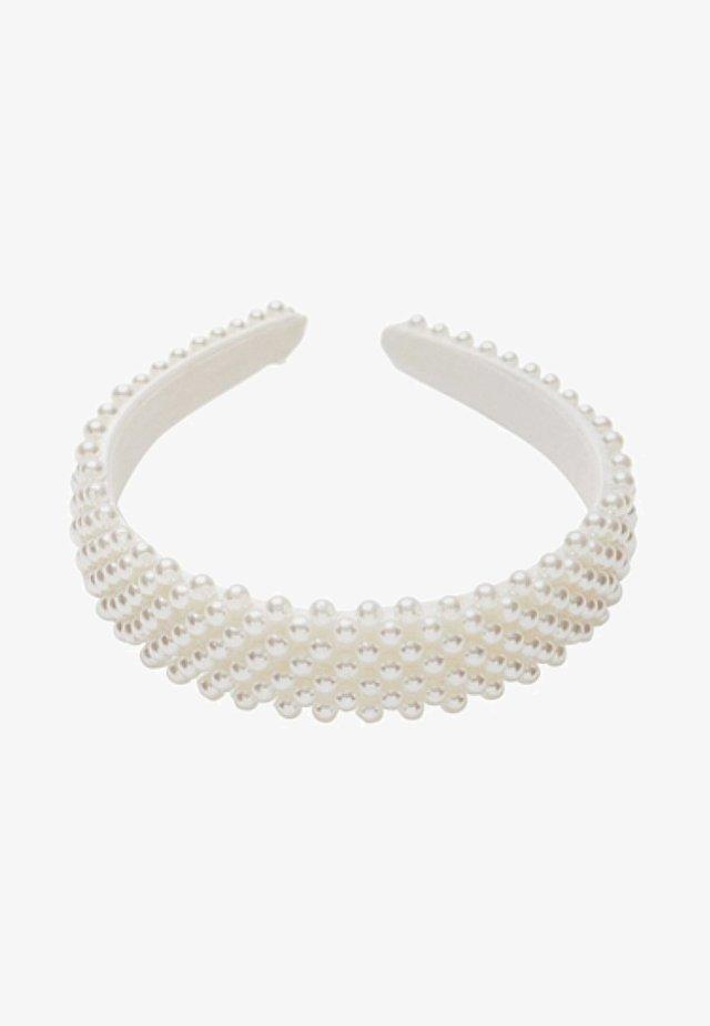 MIT PERLEN - Hårstyling-accessories - white