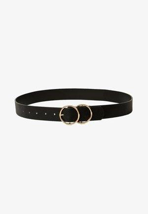 MIT GEKREUZTER SCHNALLE - Belt - black