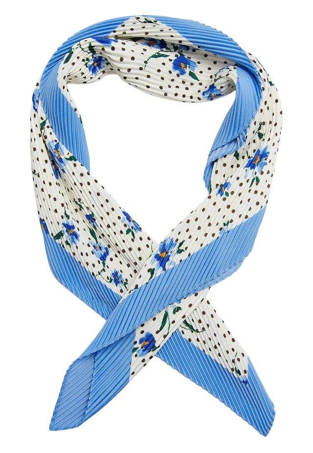 MIT BLUMENPRINT UND TUPFEN  - Sjal / Tørklæder - blue