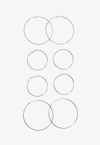 Stradivarius - 4ER-SET GROSSE KREOLEN  - Earrings - silver-coloured - 1