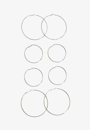 4ER-SET GROSSE KREOLEN  - Boucles d'oreilles - silver-coloured