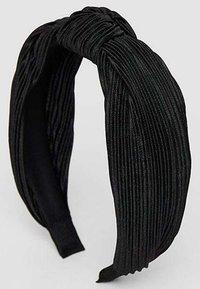 Stradivarius - STARRER PLISSÉE - Hair styling accessory - black - 3